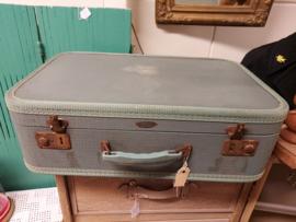 Mooie oude blauwe koffer