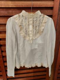 Vintage blouse met kant