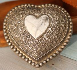 Hartvormig sieradendoosje