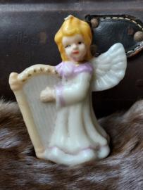 Kerstengel met harp, kaarsje