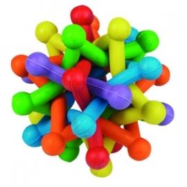 Atoombal rubber kleurrijk 10cm, type 1