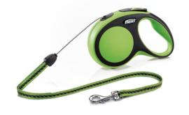 Flexi New Comfort M - Koord 8 meter / max 20kg Groen