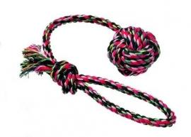 Katoenbal aan touw