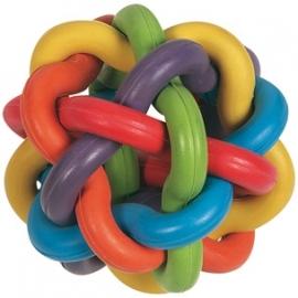 Atoombal rubber kleurrijk 10cm, type 2