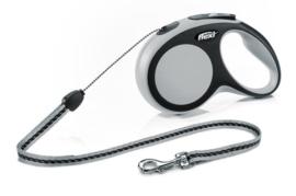 Flexi New Comfort M - Koord 8 meter / max 20kg Antraciet