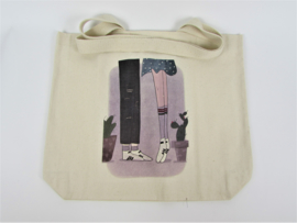 Eco shopper with print couple