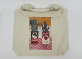 Eco shopper with print cactus