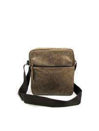 Shoulder bag unisex brown