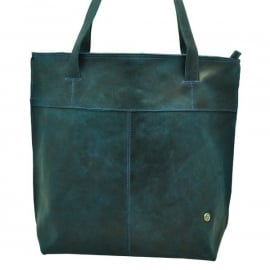 MADE IN BARRIO eco leather shopper, blue