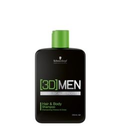 Schwarzkopf [3D]MEN Hair & Body Shampoo 250ml