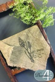Linnen doekje Blauwe druif 45x45 cm
