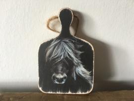 Houten bordje S paard