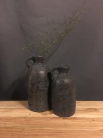Stenen pot donker grijs (Rechts)