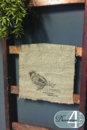 Linnen doekje Vogel 30x45 cm