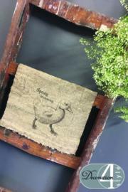 Linnen doekje spring is coming 30x45 cm