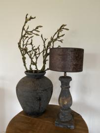 Cilinder Lampenkap Velvet Ø20 cm Bruin