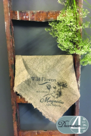Linnen doekje magnolia 45x45 cm