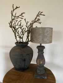 Cilinder Lampenkap Velvet Ø20 cm taupe