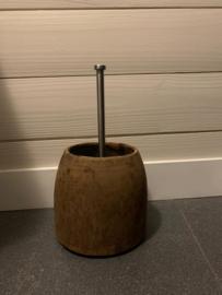 Nepalese kruik voor de  wc borstel
