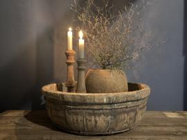 oude houten ronde olijfbak nr. 8