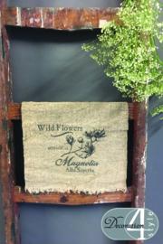 Linnen doekje magnolia 30x45 cm