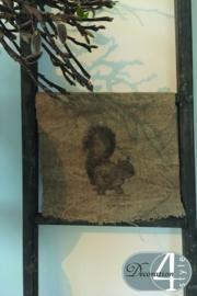 Linnen doekje Eekhoorn 30x45 cm