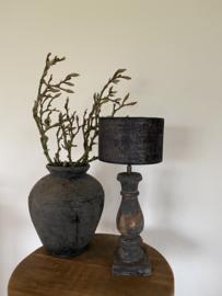 Cilinder Lampenkap Velvet Ø20 cm Zwart