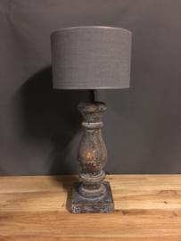 Cilinder Lampenkap Ø20 cm Grijs
