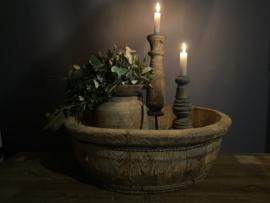 oude houten ronde olijfbak nr. 12