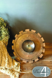 Houten candle stand