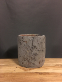 Stenen pot grijs