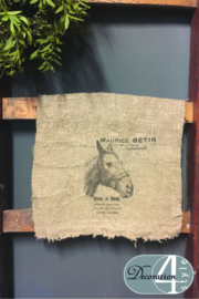 Linnen doekje Paard 30x45 cm
