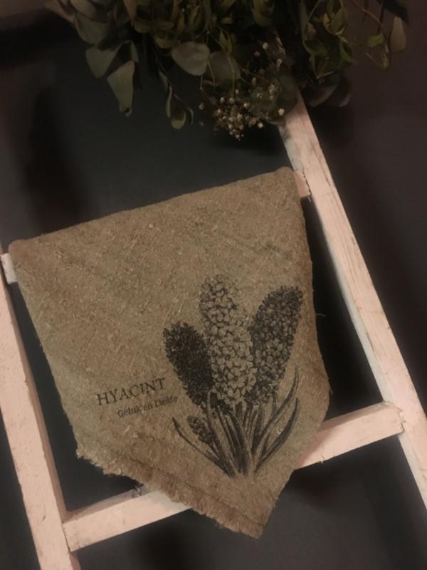 Linnen doek Hyacint 45x45 cm