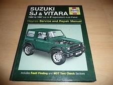 Suzuki SJ & Vitara Haynes Service and Repair Manual