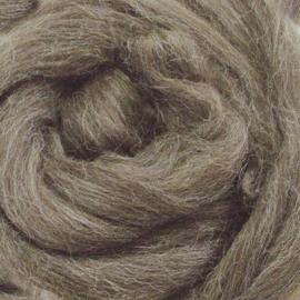 Lontwol natuur bruin/grijs gemêleerd (ongeverfd)