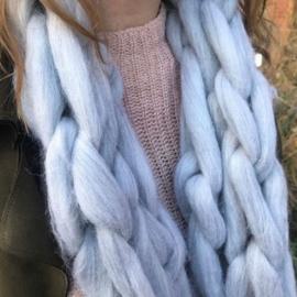 DIY sjaal breien met lontwol (250 gram)