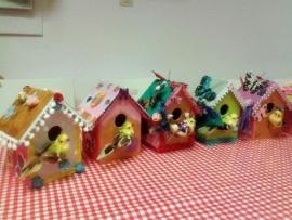 Boeken kinderfeestje vogelhuisje pimpen