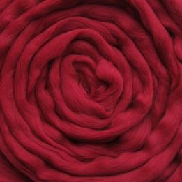 Lontwol bordeaux rood (geverfd)
