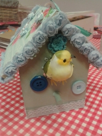 Thuisfeestje klein vogelhuis 4 personen