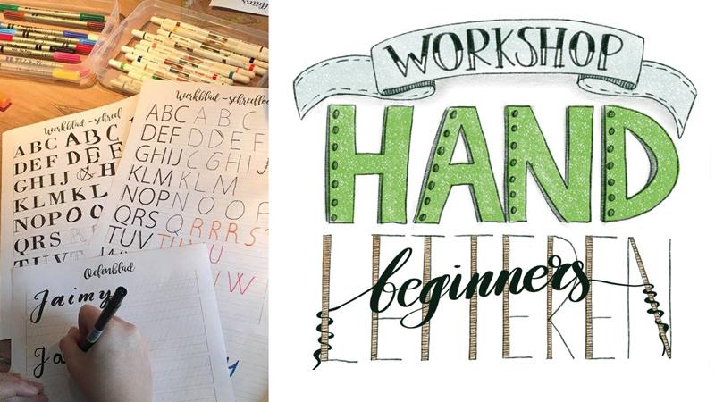 Boeken workshop handletteren voor beginners