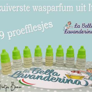 Wasparfum proef flesjes