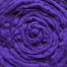 Lontwol blauw paars (geverfd)