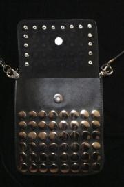 Lederen zwart of bruine tas met studs