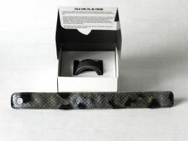 Clickclacks fake fur snake zilver zwart