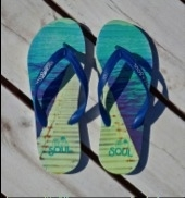 Ibiza Soul slippers Jetty Blue
