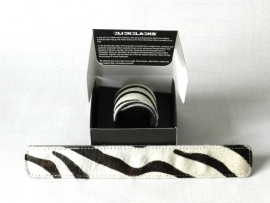 Clickclacks fake fur zebra