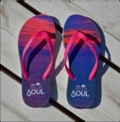 Ibiza Soul slippers Sunset