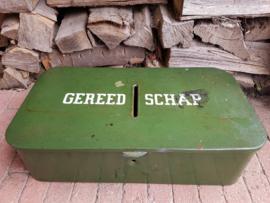 Oude Brabantia IJzeren Gereedschapskist incl inhoud!