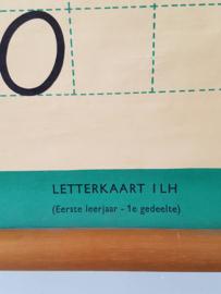 Oud letterkaart op linnen