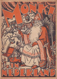 Curieus! MONKI in Nederland met 18 pagina's over Sinterklaas! ca. 1950